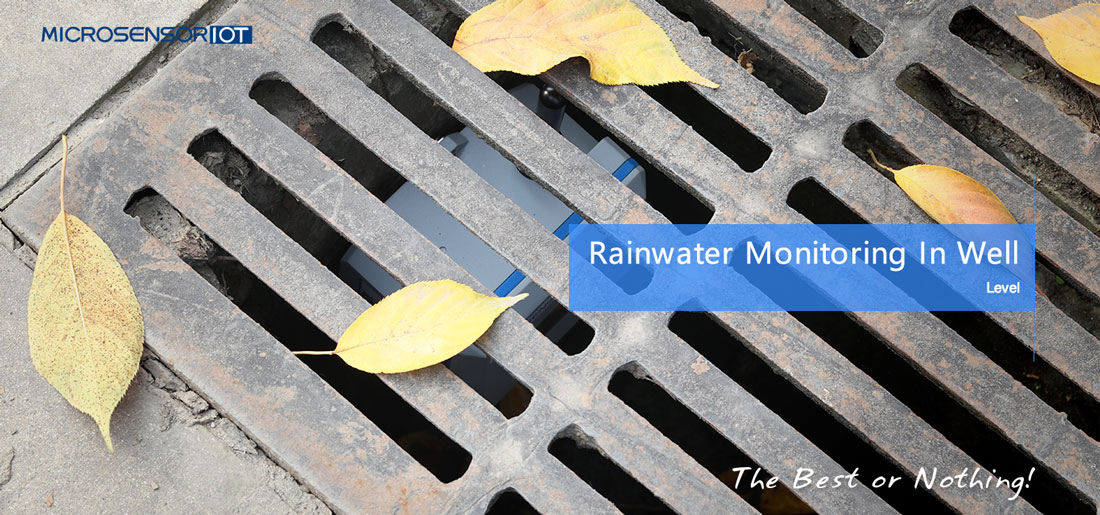 Water level monitoring of rainwater wells