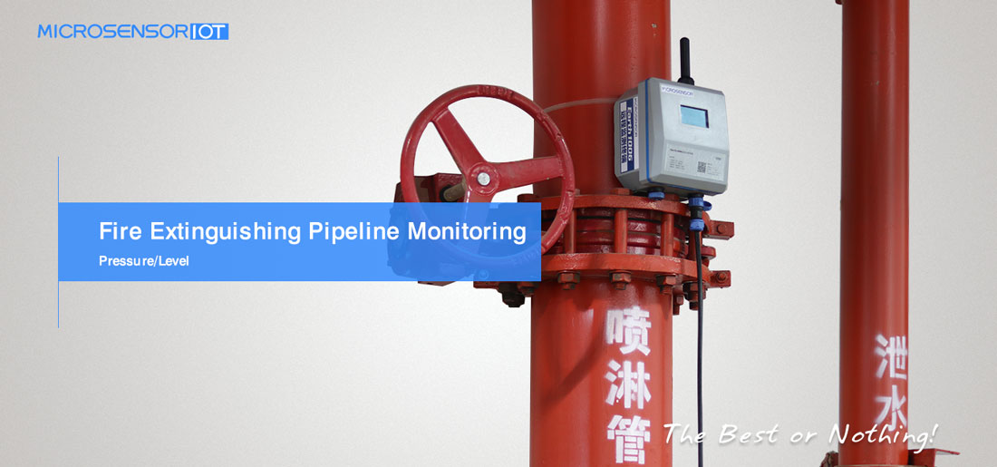 Fire pipe network monitoring